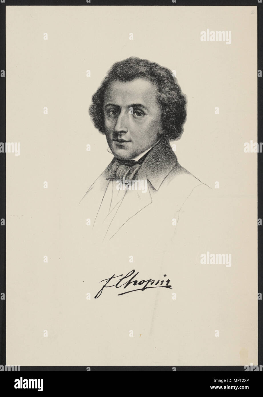 Portrait of Frédéric Chopin (1810-1849). - Stock Image