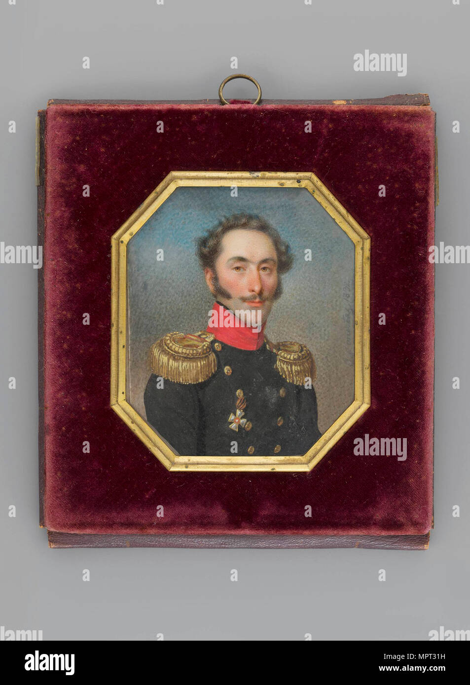 Portrait of Count Ivan Osipovich de Witt (1781-1840), 1832. - Stock Image