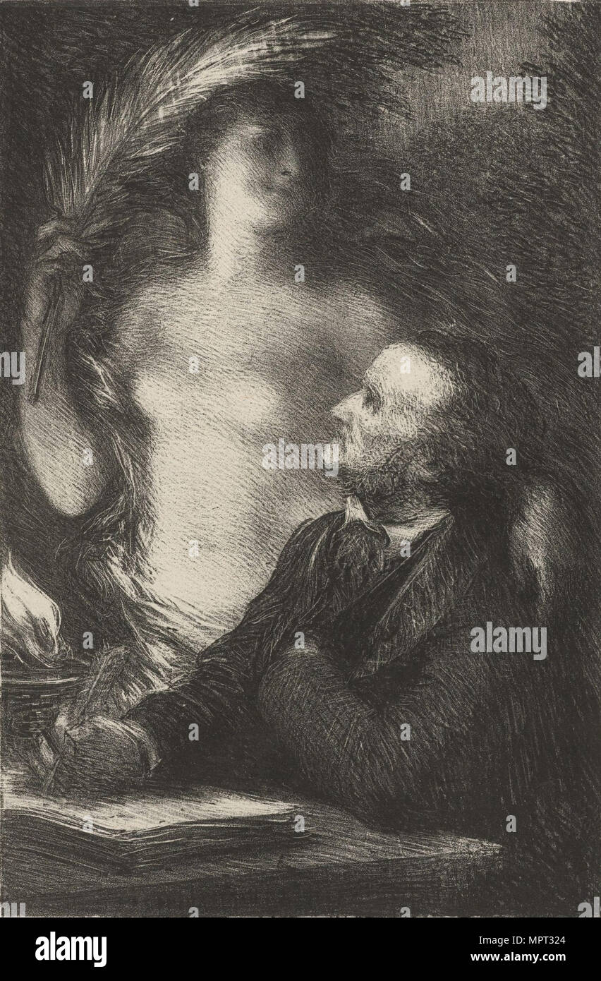 Richard Wagner and his Muse, 1886. - Stock Image