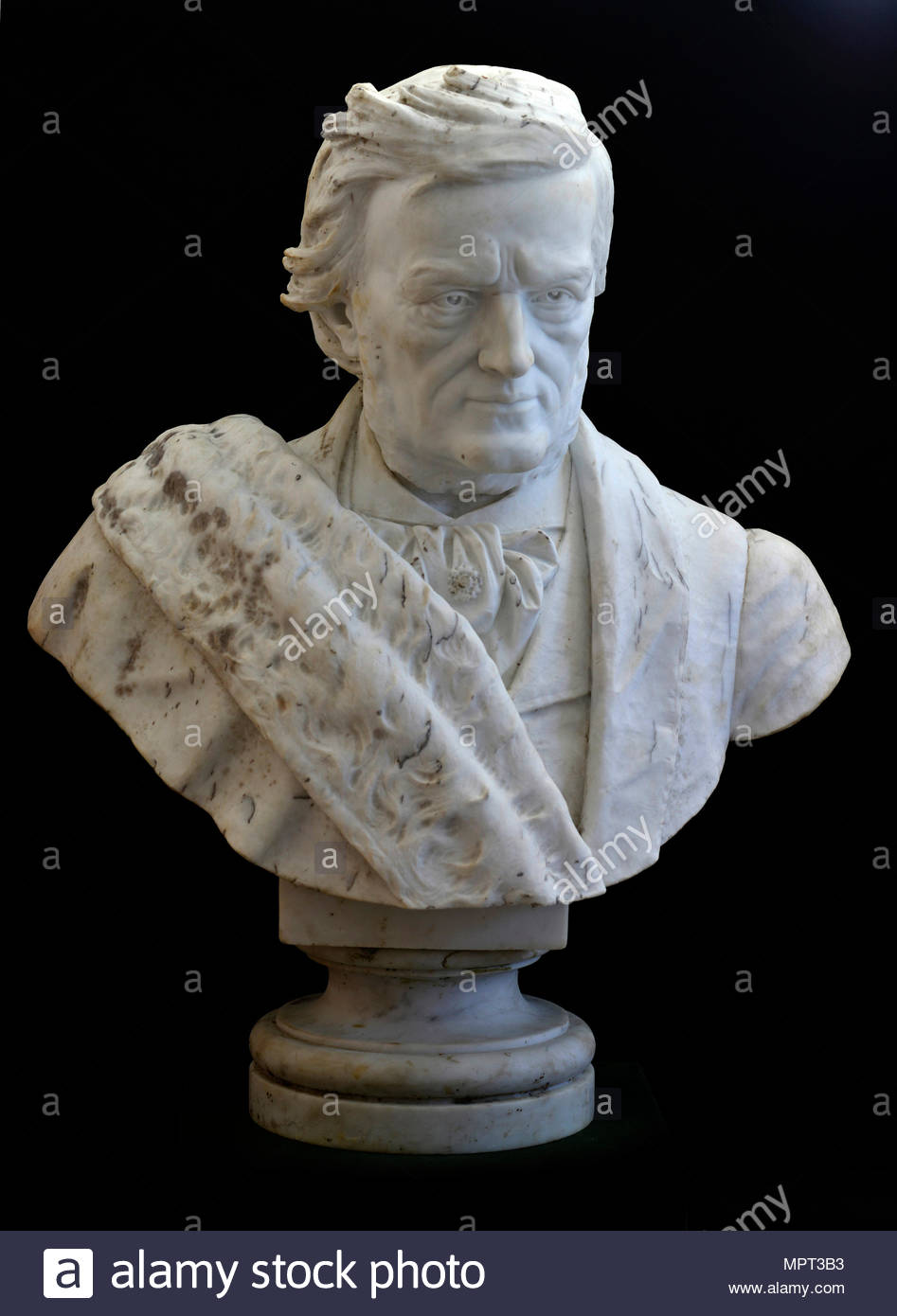 Bust of Richard Wagner, 1873. - Stock Image