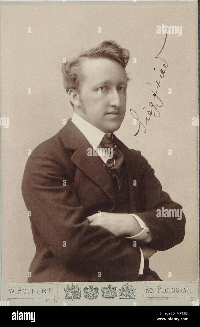 Portrait of Siegfried Wagner  (1869-1930). - Stock Image