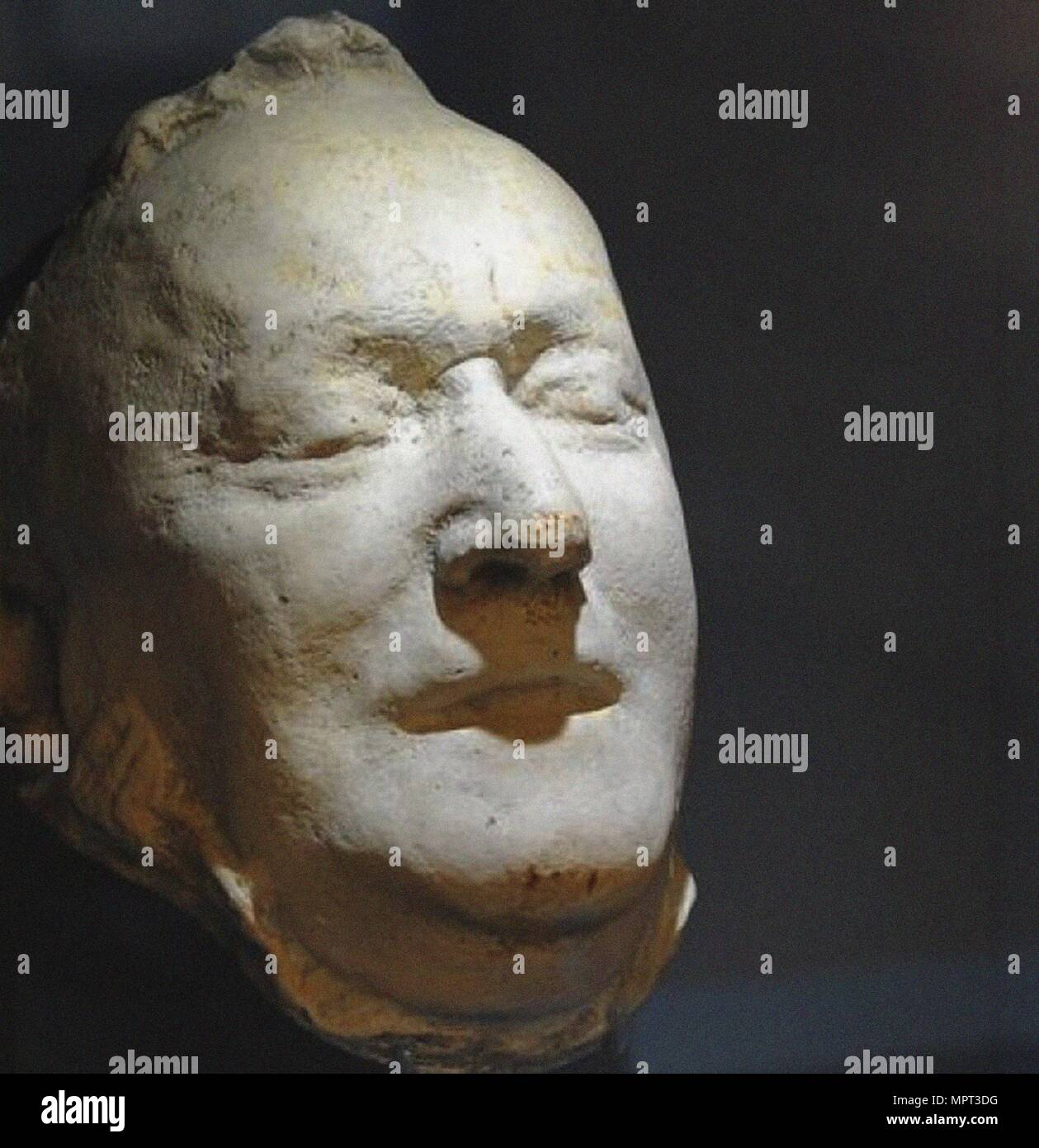 The death mask of Richard Wagner, 1883. - Stock Image
