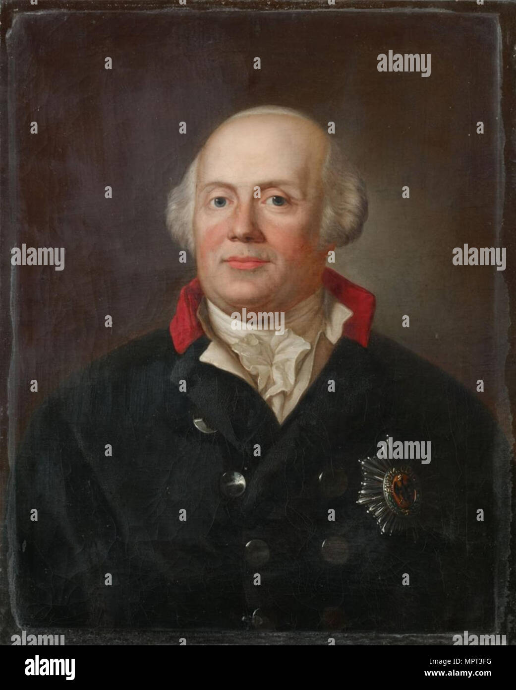 Portrait of Frederick William II of Prussia (1744-1797). - Stock Image