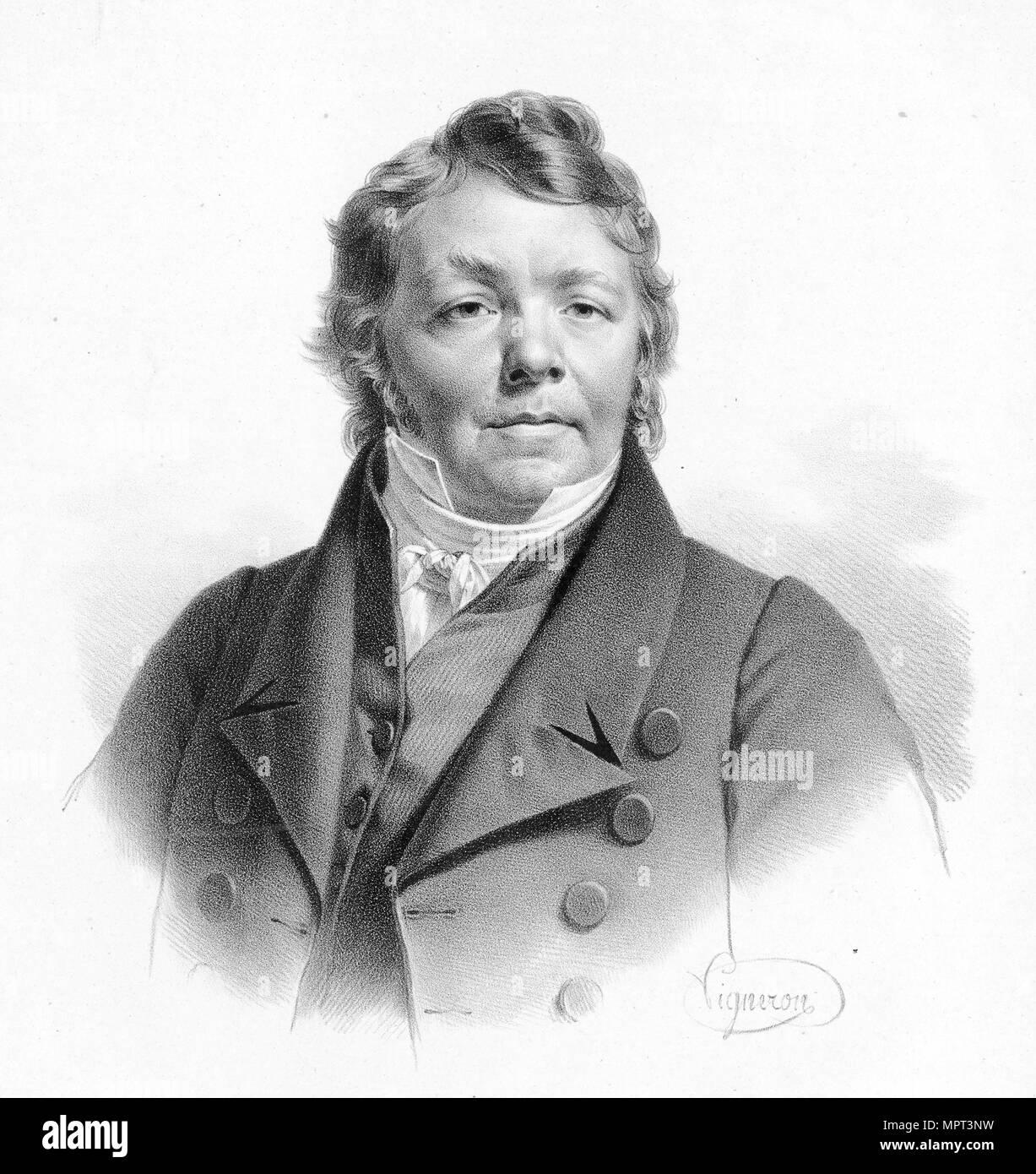 Portrait of Johann Nepomuk Hummel (1778-1837). - Stock Image