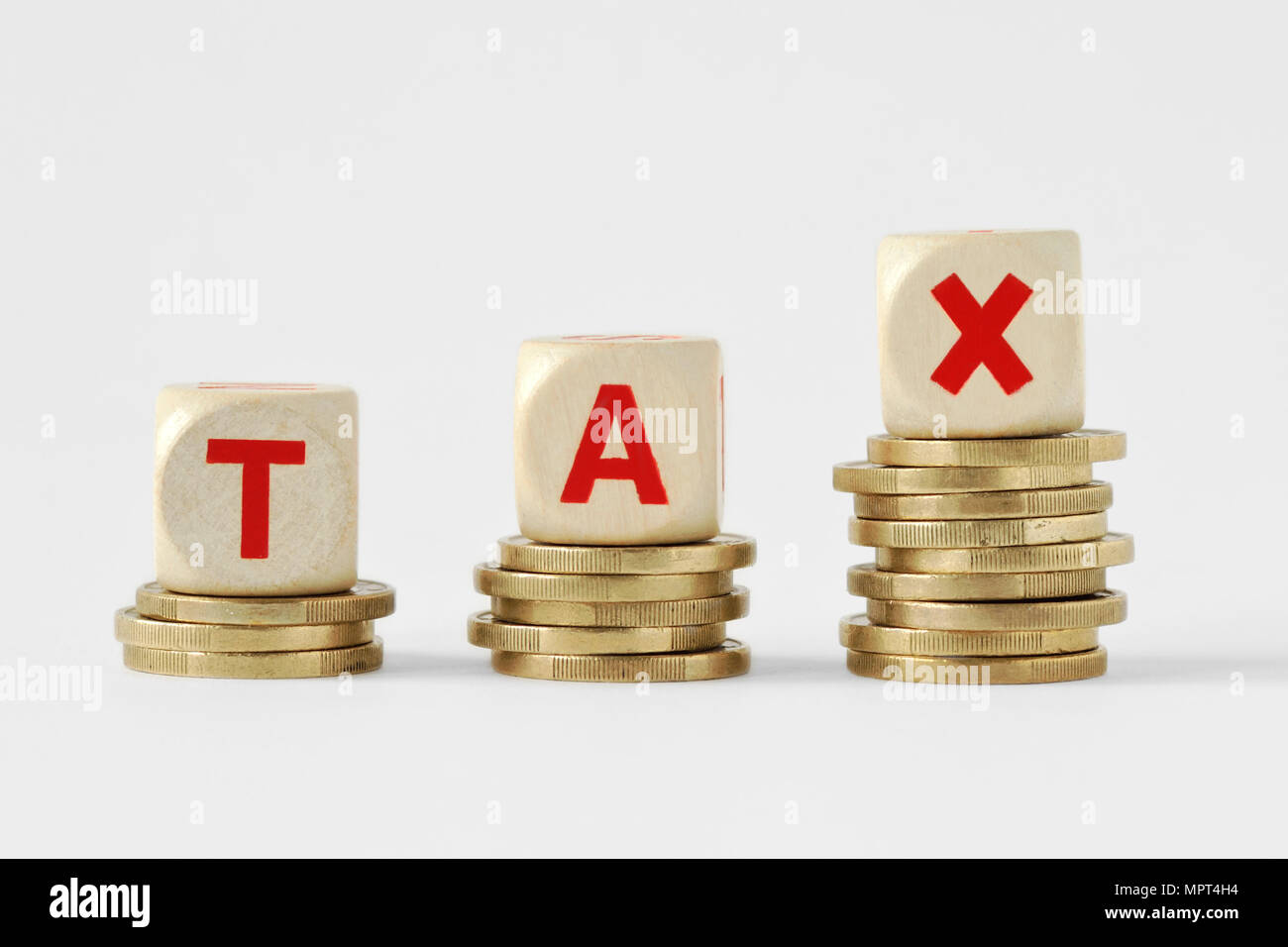 Concept Paying Taxes Stock Photos & Concept Paying Taxes