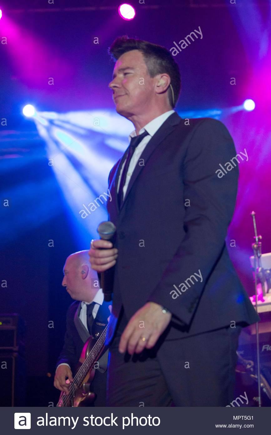 rick ashley rick ashley concert malaga city spain stock photo