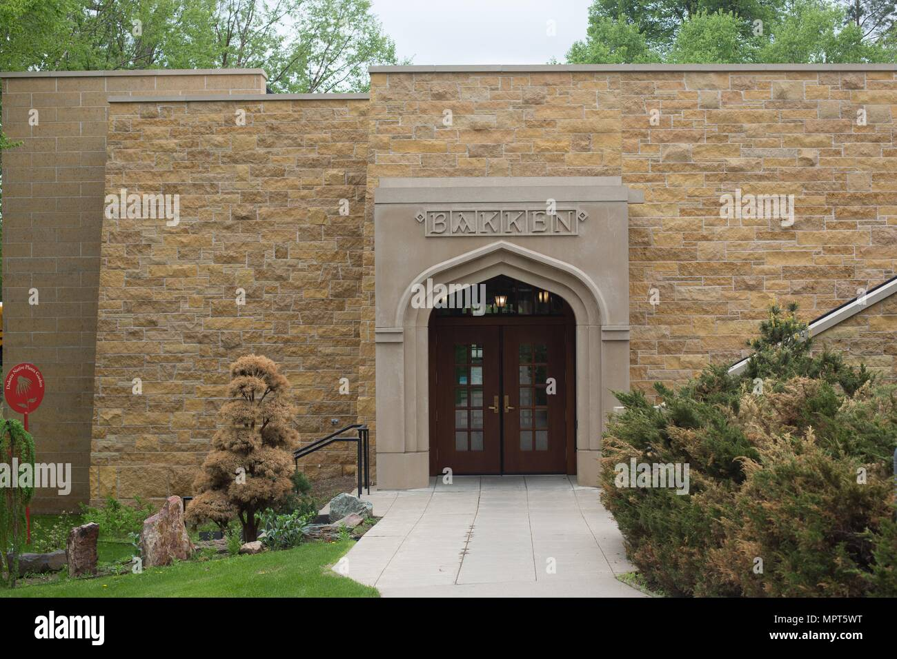 The entrance to the Bakken Museum in Minneapolis, Minnesota, USA. Stock Photo