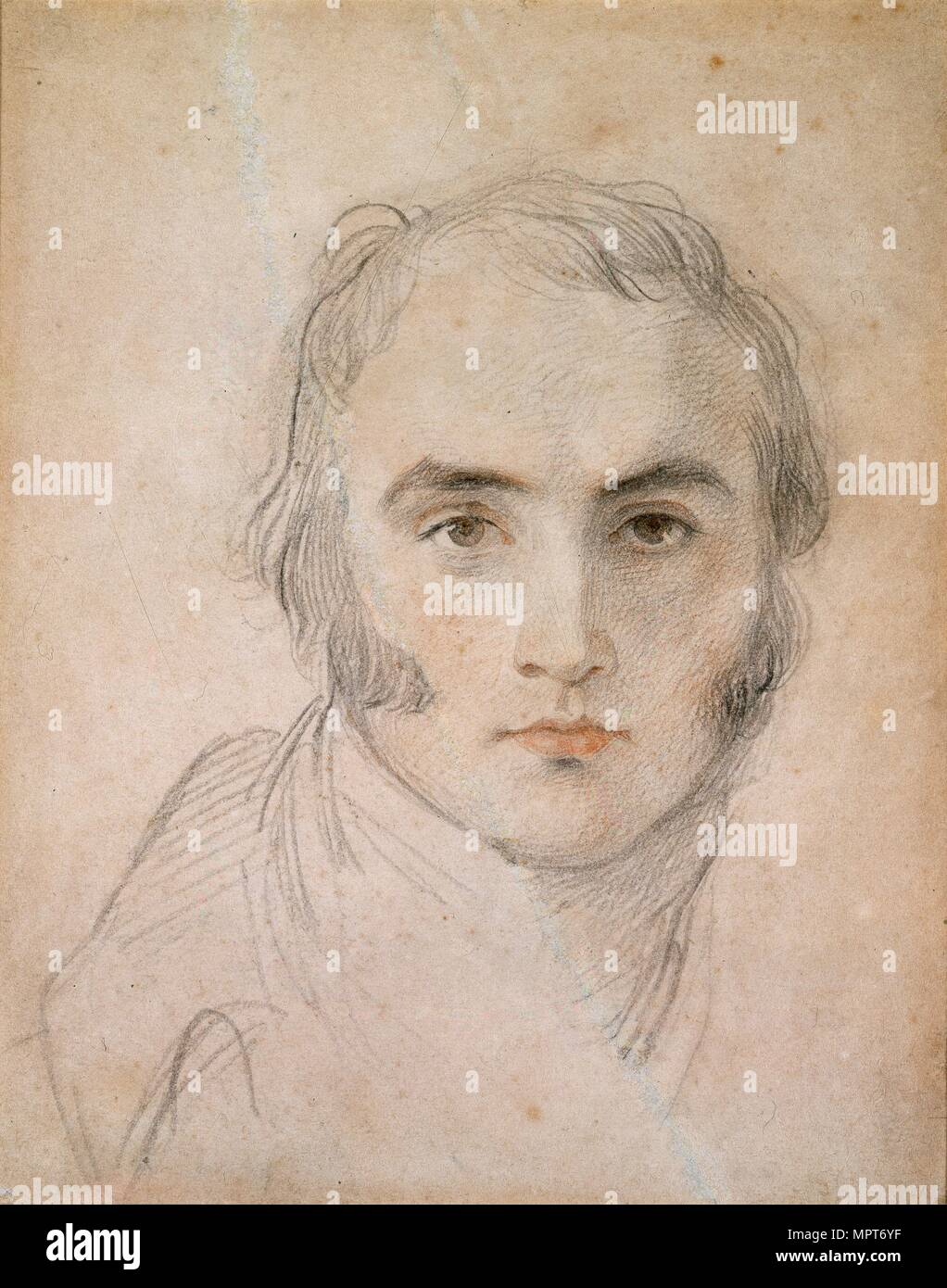 Self-portrait, c1800s Artist: Thomas Lawrence. - Stock Image