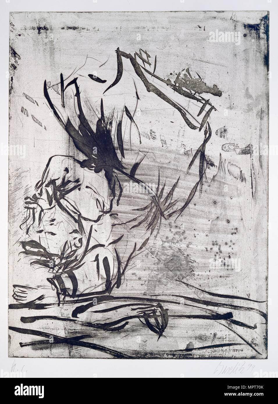 A Fascist flew past-Japanese, 1998-1999. Artists: Georg Baselitz, Sabine Knust, Maximilian Verlag. - Stock Image