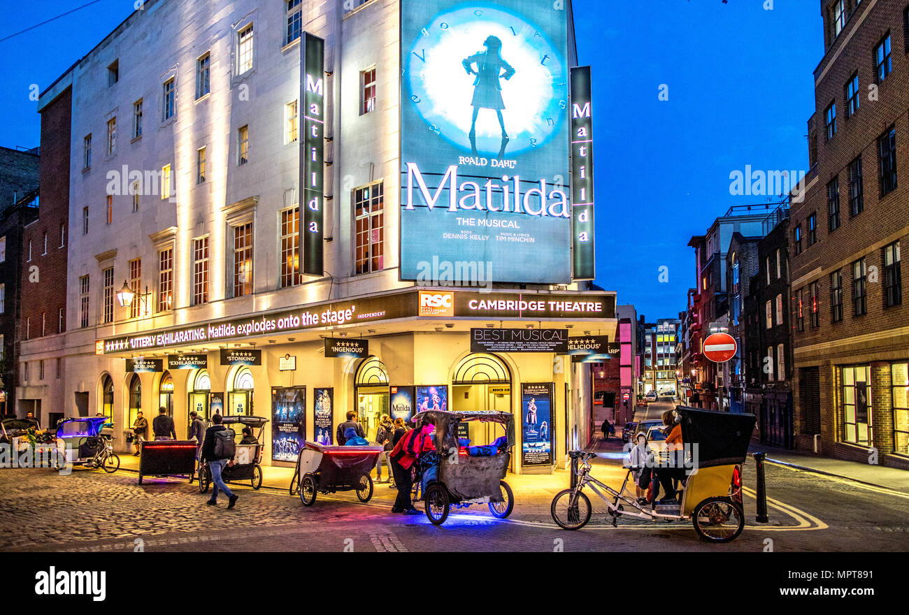 The Cambridge Theater Seven Dials London UK - Stock Image