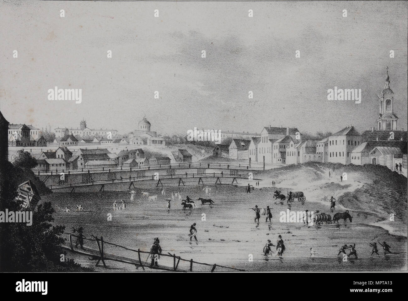 View of Oryol, 1830s. - Stock Image