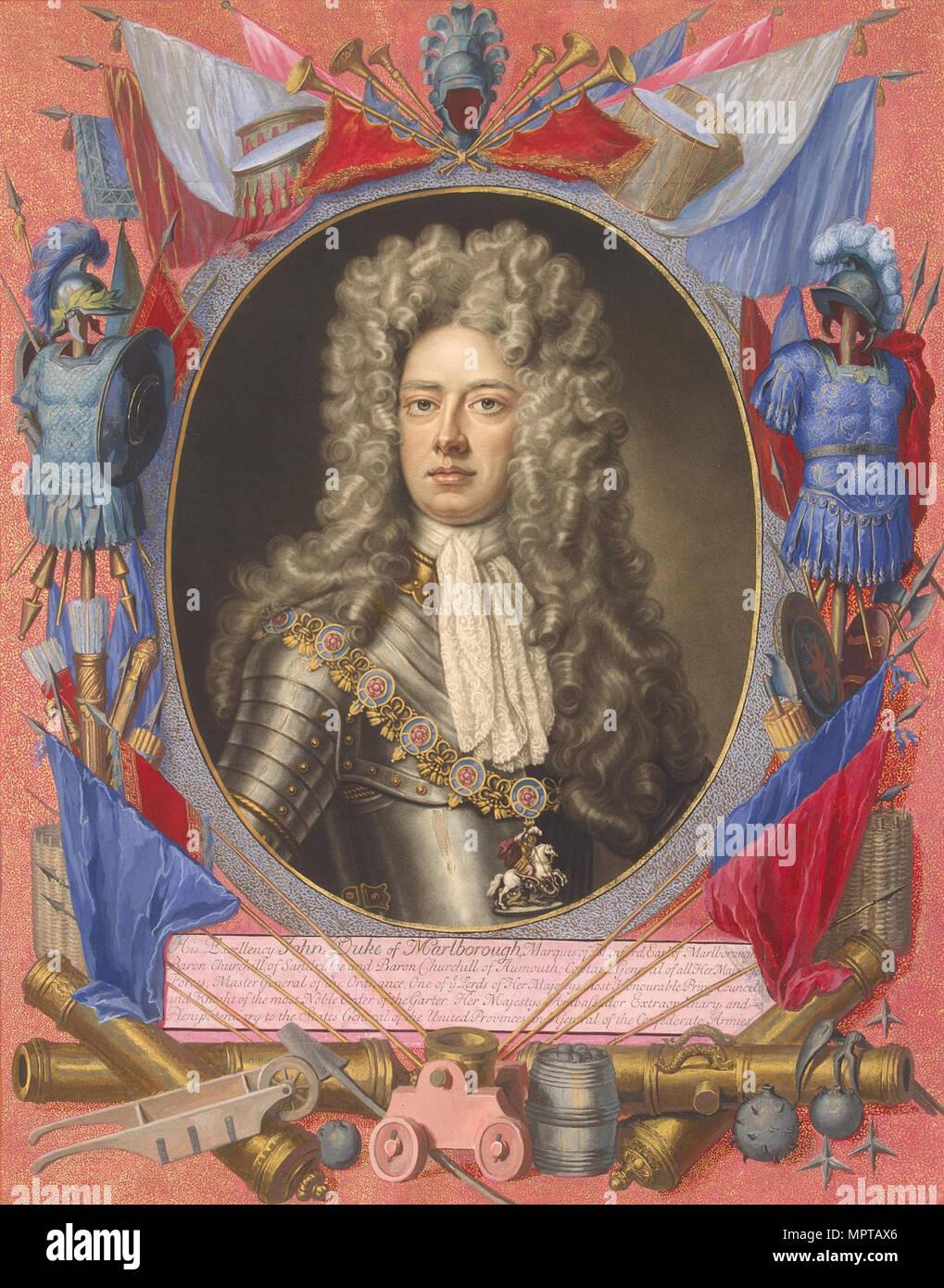 Portrait of John Churchill, 1st Duke of Marlborough (1650-1722). - Stock Image
