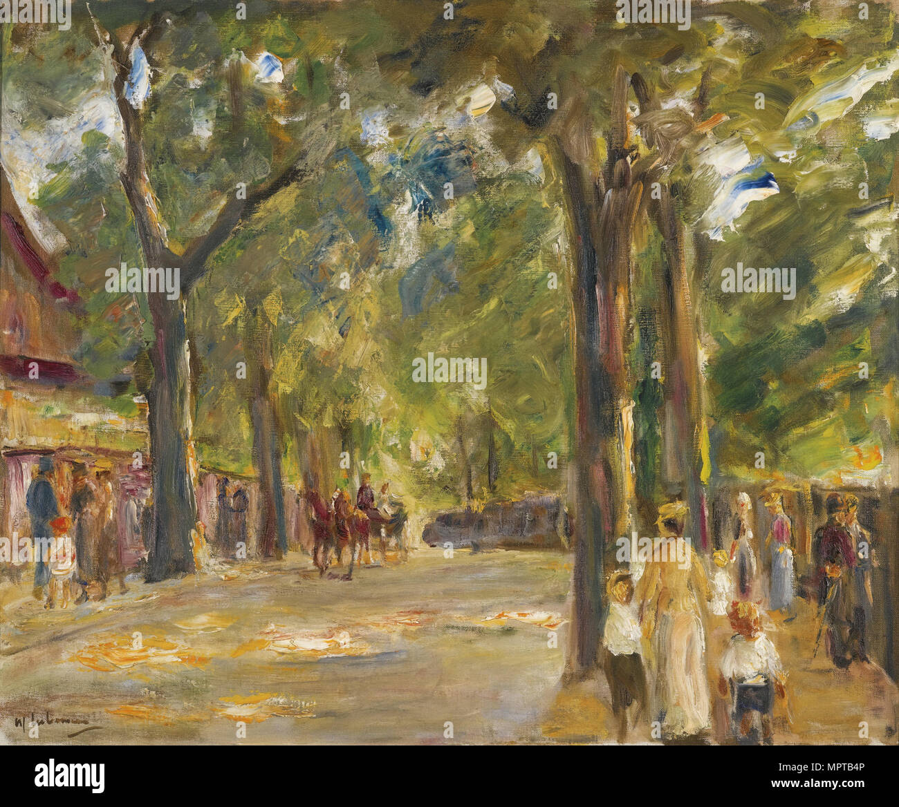 Figures on the Grosse Seestrasse in Wannsee. - Stock Image