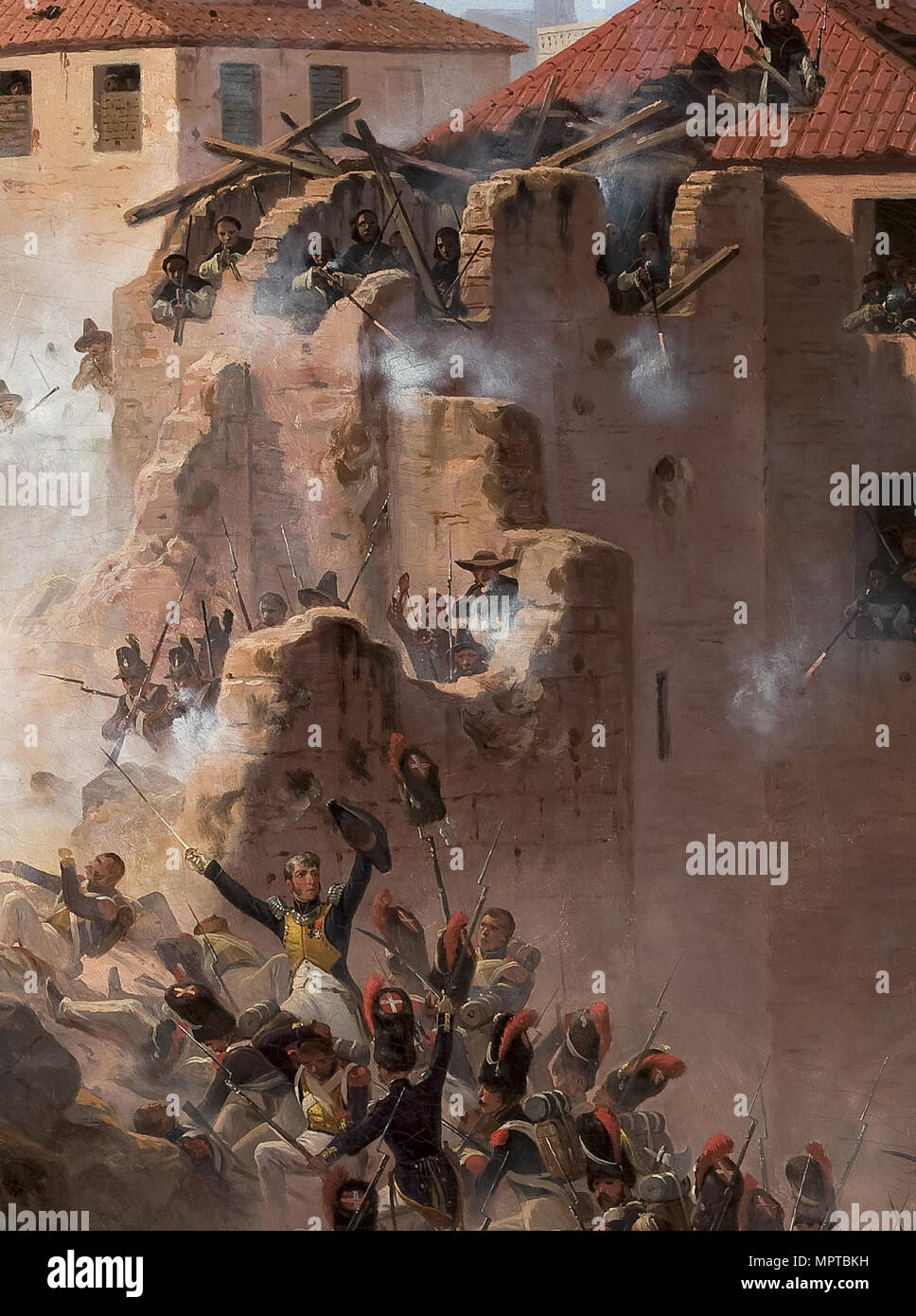 The First Siege of Zaragoza (Detail). - Stock Image