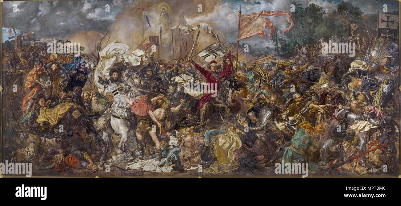 The Battle of Grunwald. - Stock Image