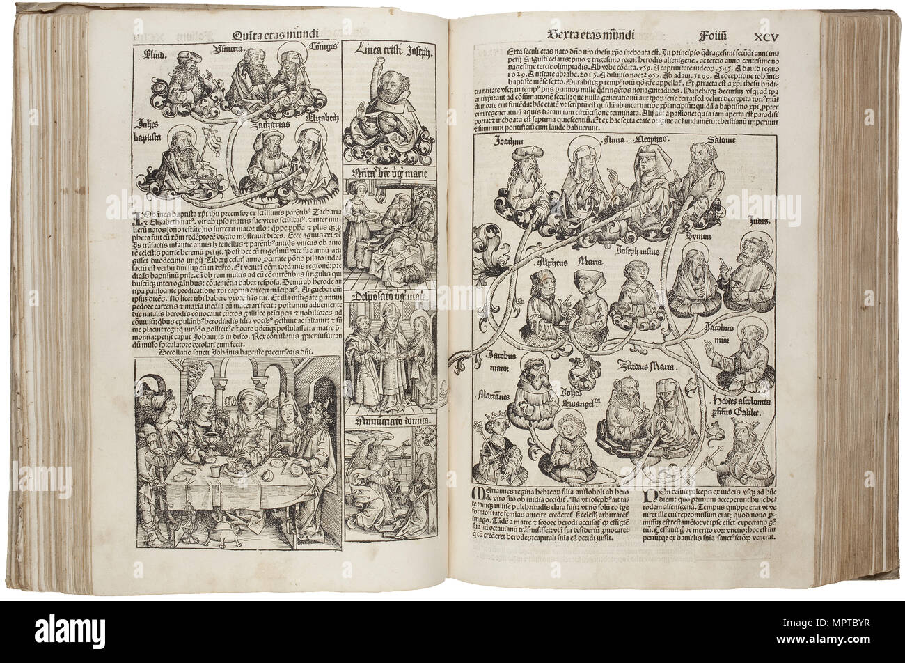 (from the Schedel's Chronicle of the World). - Stock Image