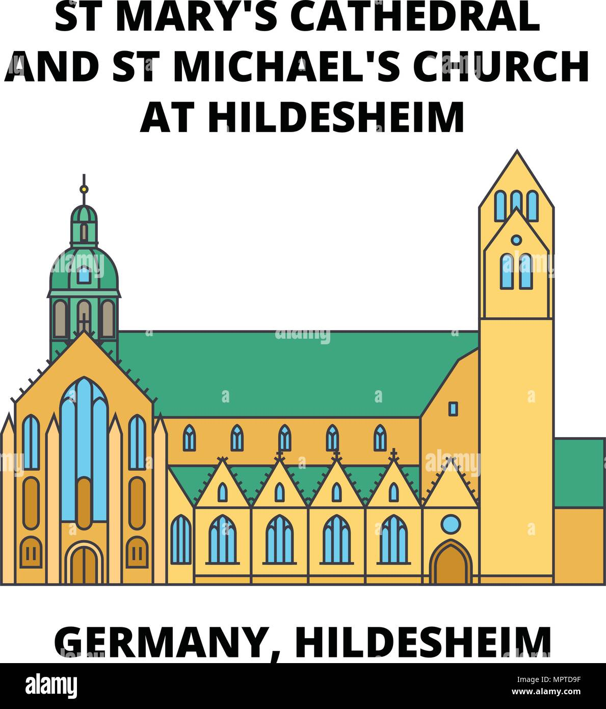 Germany Hildesheim St Marys Cathedral And St Michaels Church At