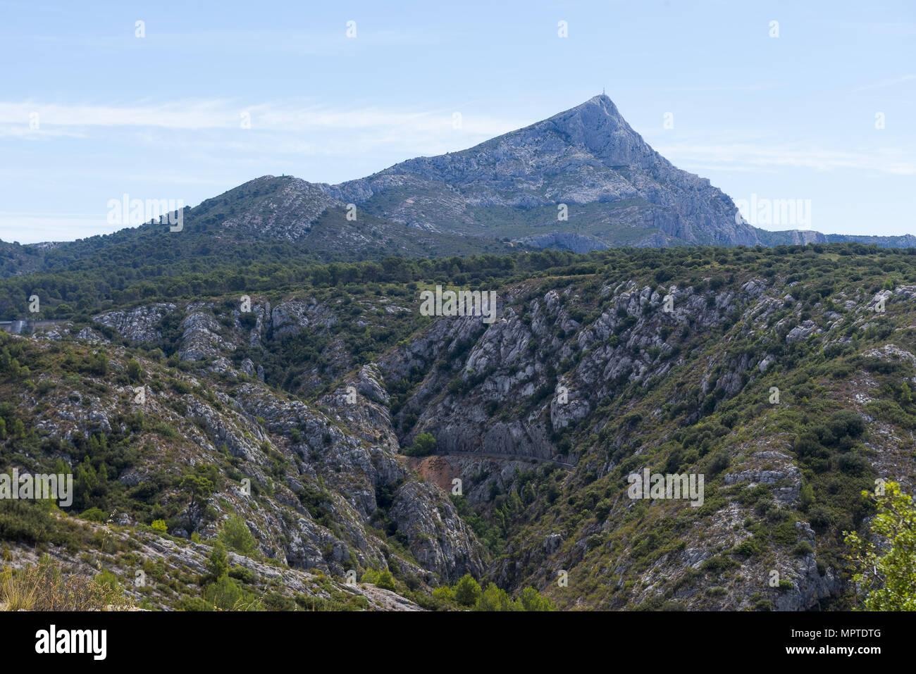 France, Provence, Montagne Sainte Victoire, Saint Victoire mountain Stock Photo