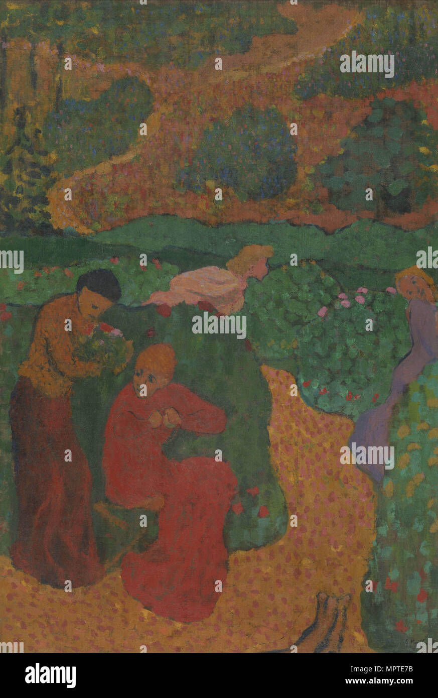 Women in the Garden (Song of Songs), 1891-1892. - Stock Image