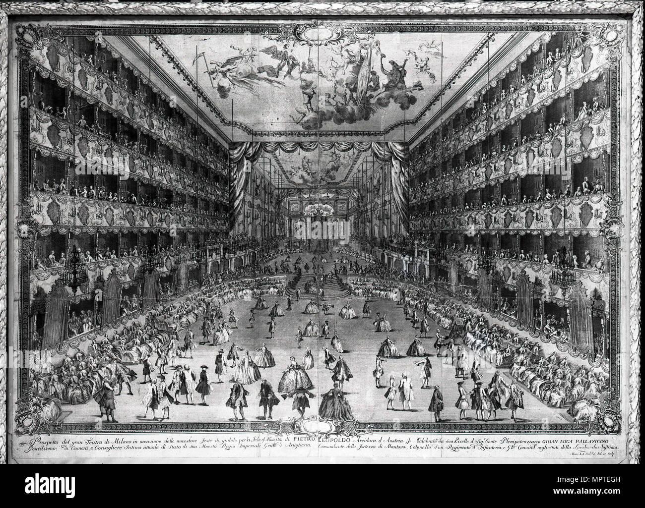 Teatro Regio Ducale, 1742. - Stock Image