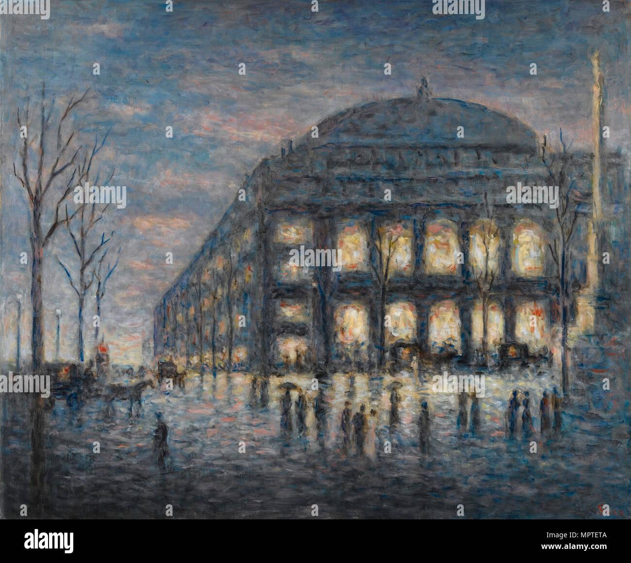 The Place du Châtelet in Paris, c. 1900. - Stock Image