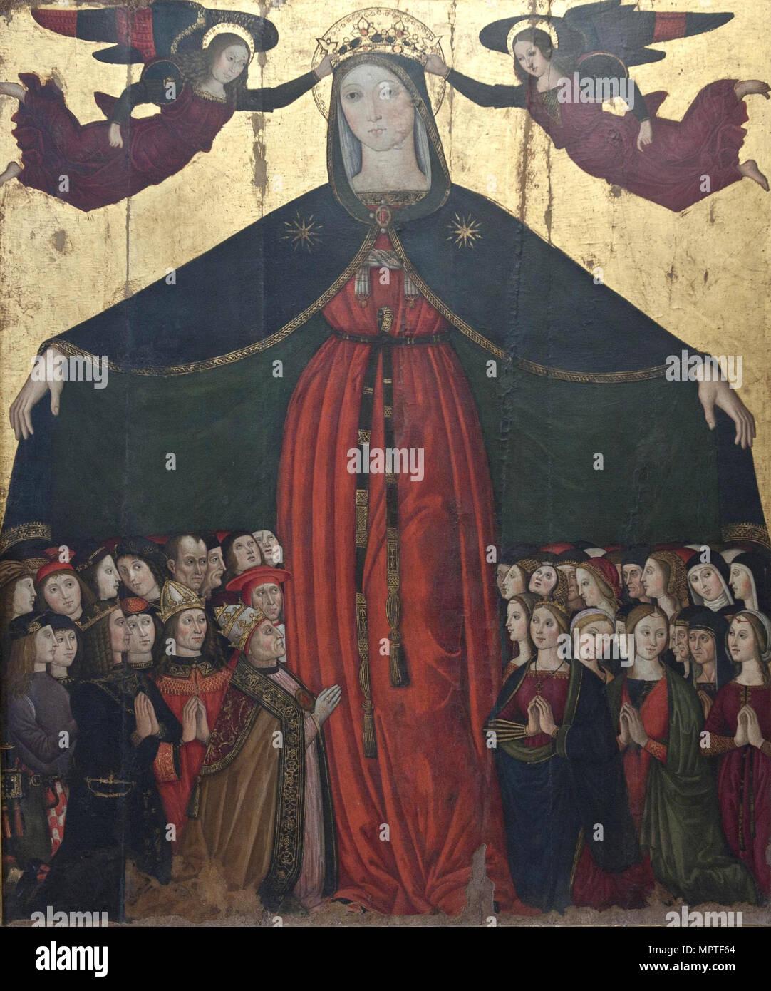 Madonna della Misericordia (Madonna of Mercy), c. 1500. - Stock Image