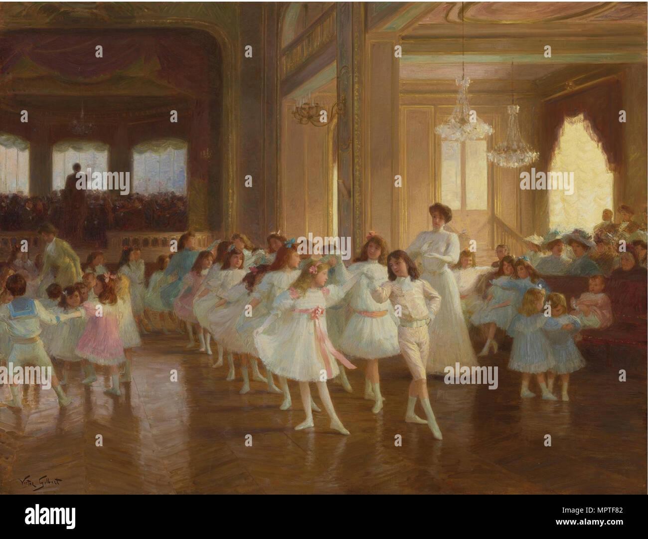 The Children's Dance Recital at the Casino de Dieppe, . - Stock Image