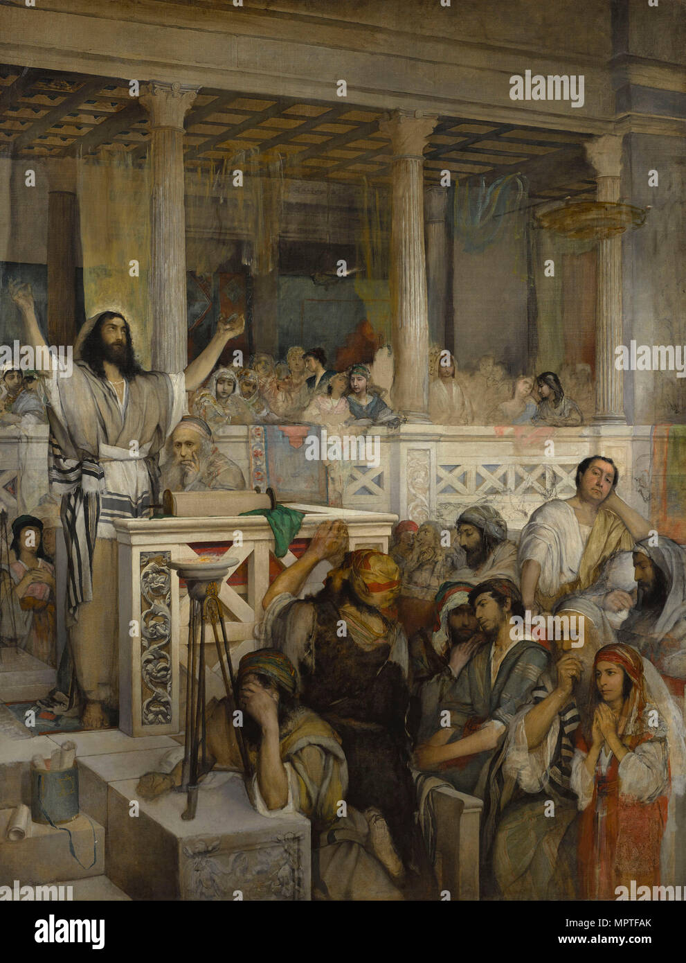 Christ Preaching at Capernaum, 1878-1879. - Stock Image