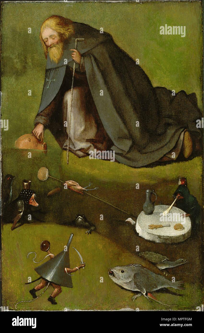 The Temptation of Saint Anthony, ca 1500-1510. - Stock Image