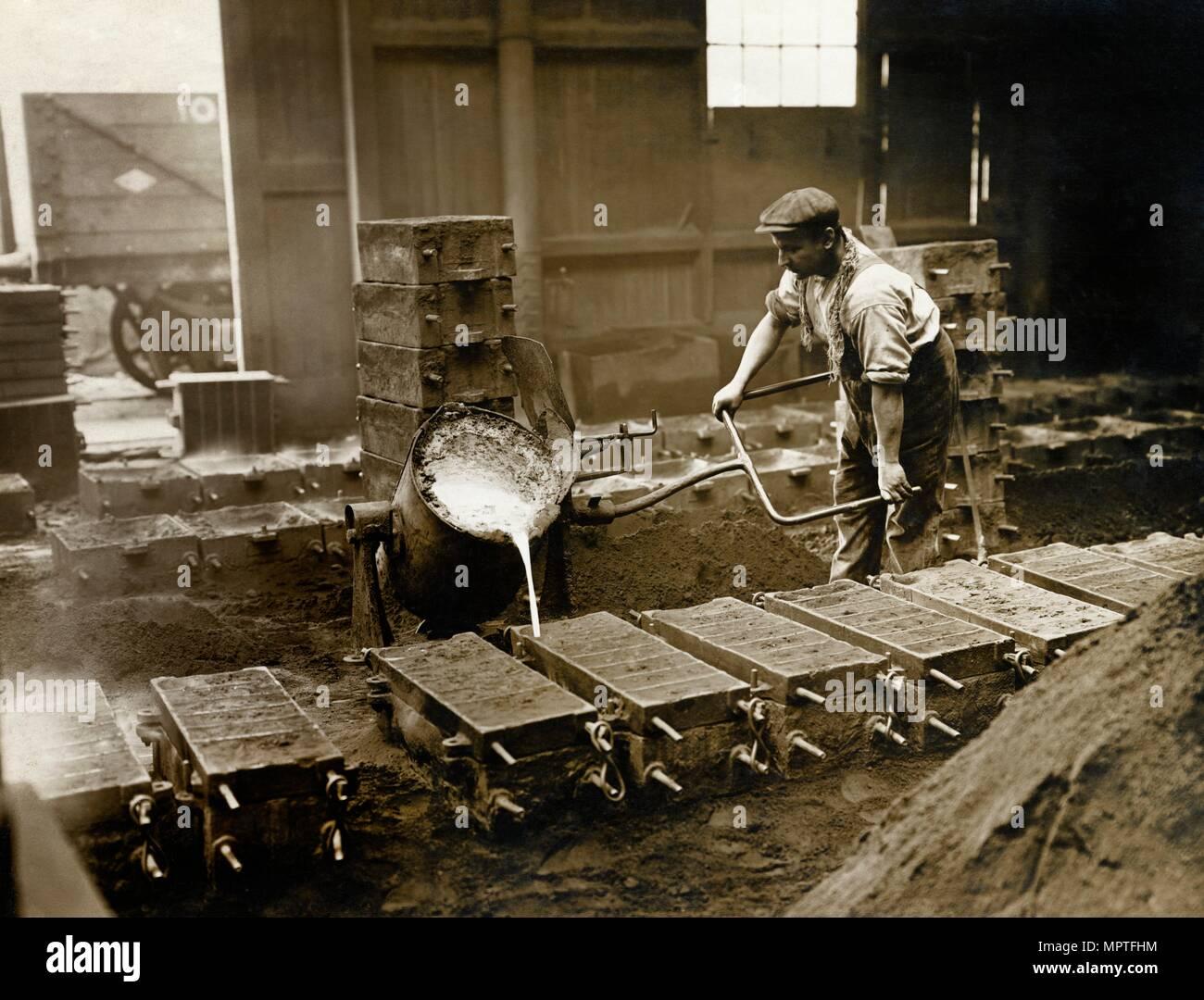 Crewe Locomotive Works, Forge Street, Crewe, Cheshire, 1910. Artist: LG Fisher. - Stock Image