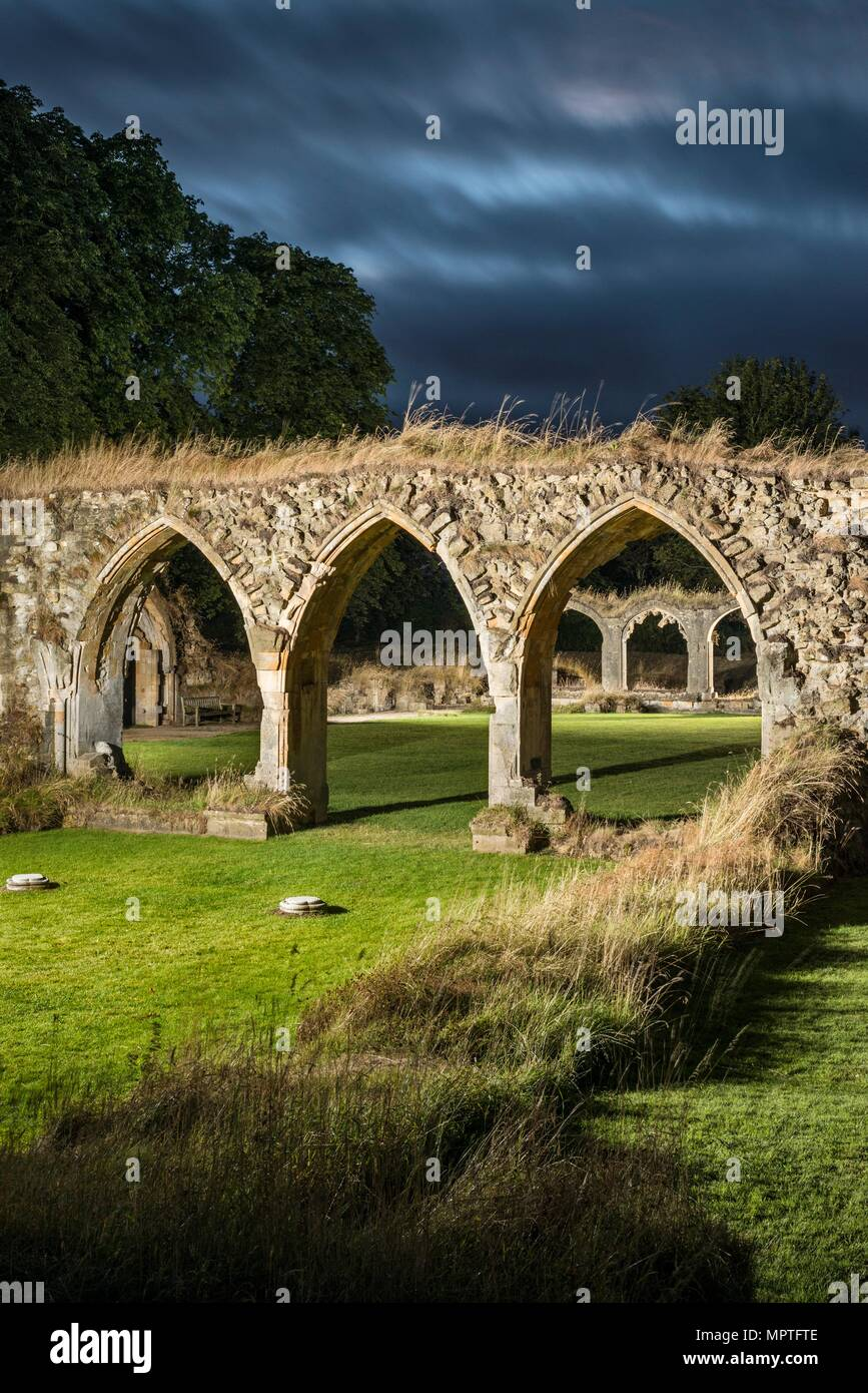 Hailes Abbey, Stanway, Gloucestershire, 2016. Artist: Steven Baker. - Stock Image