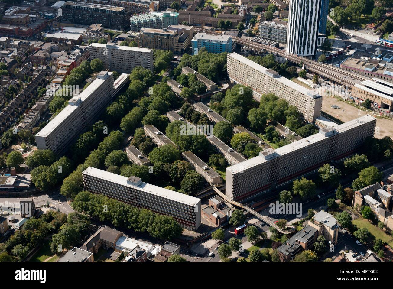 Heygate Estate, Heygate Street, Elephant and Castle, London, 2012. Artist: Damian Grady. - Stock Image
