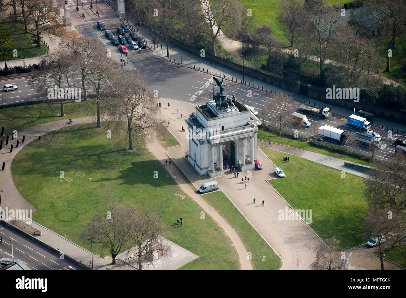 Wellington Arch, Constitution Hill, Westminster, London, c2015. Artist: Damian Grady. - Stock Image