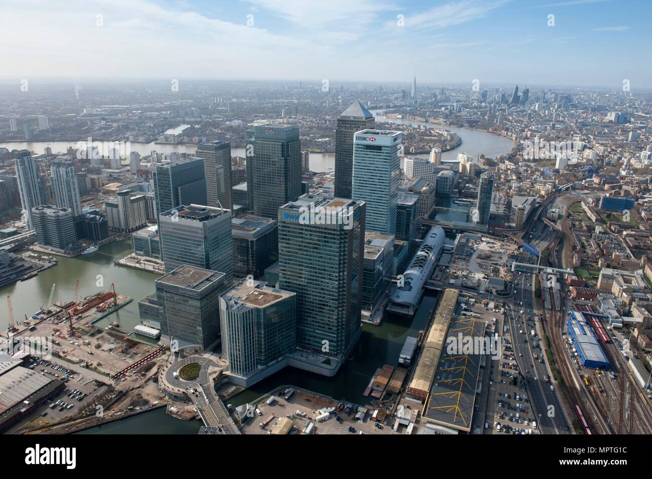 Canary Wharf, Isle of Dogs, Tower Hamlets, London, 2015. Artist: Damian Grady. - Stock Image