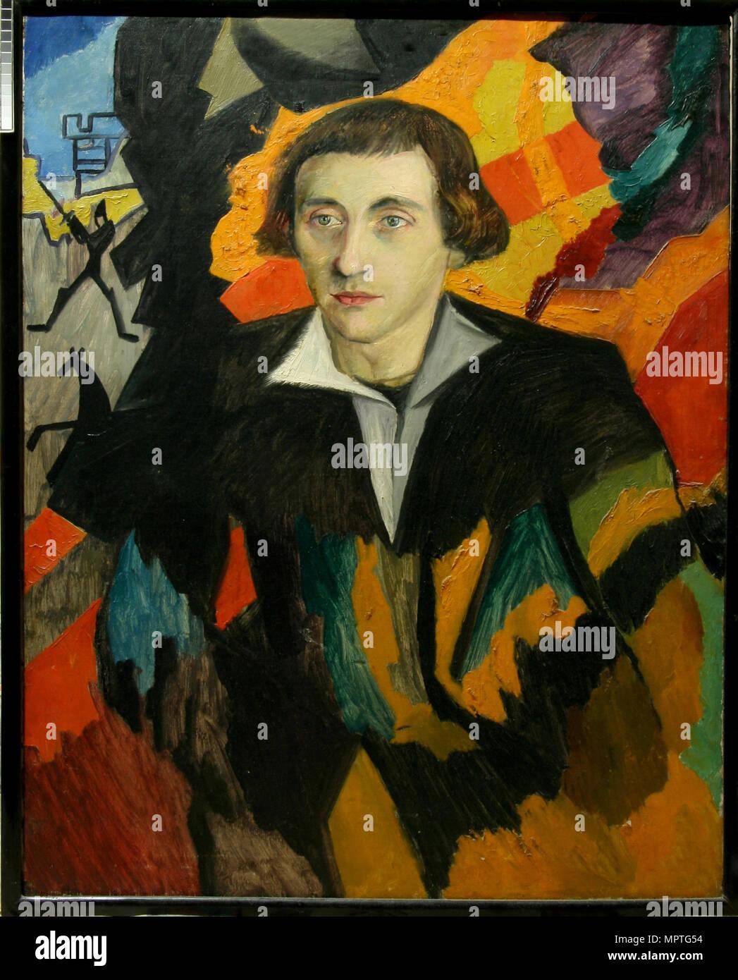 Portrait of Nikolai Evreinov (1879-1953), 1912. - Stock Image