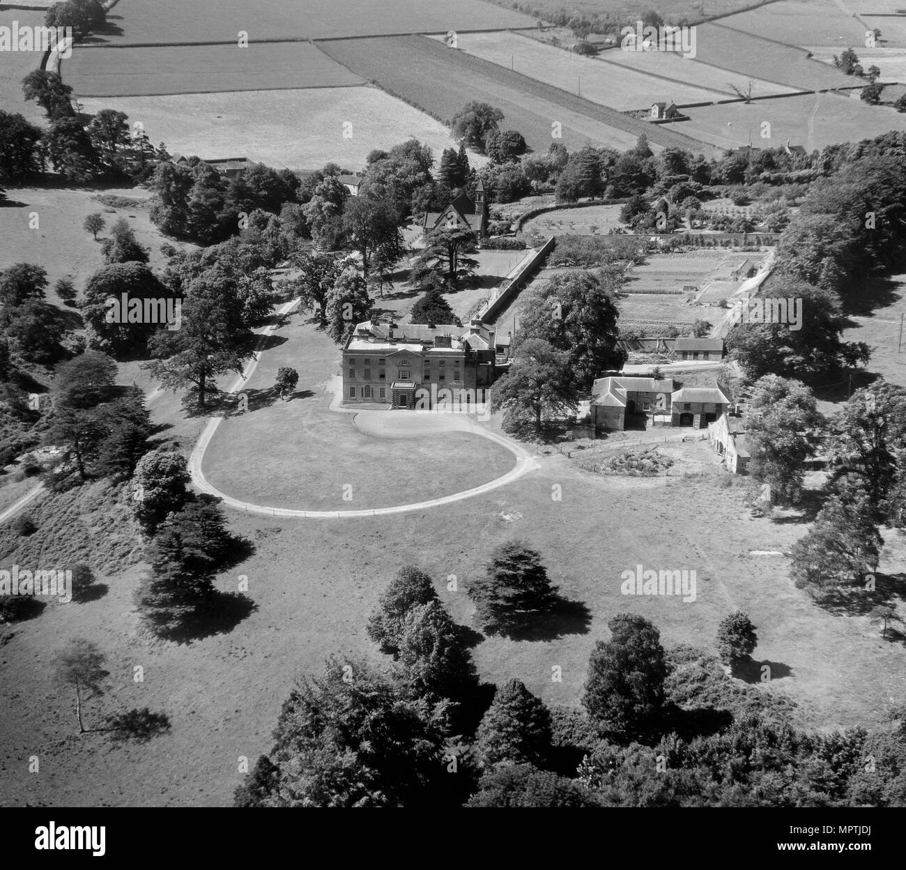 Alderwasley Hall, Derbyshire, 1951. Artist: Aeropictorial Ltd. - Stock Image