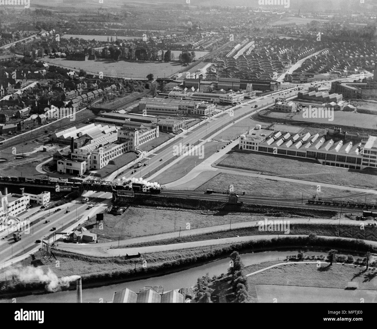 Great West Road, Brentford, Middlesex, 1937. Artist: Aeropictorial Ltd. - Stock Image