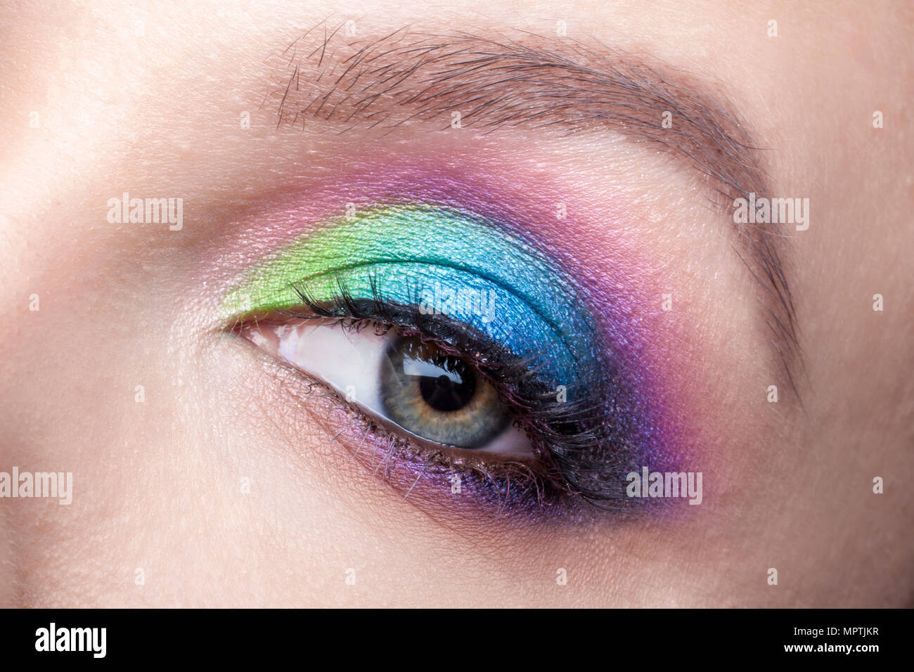 Eye Makeup Beautiful Eyes Glitter Make Up Holiday Makeup Detail