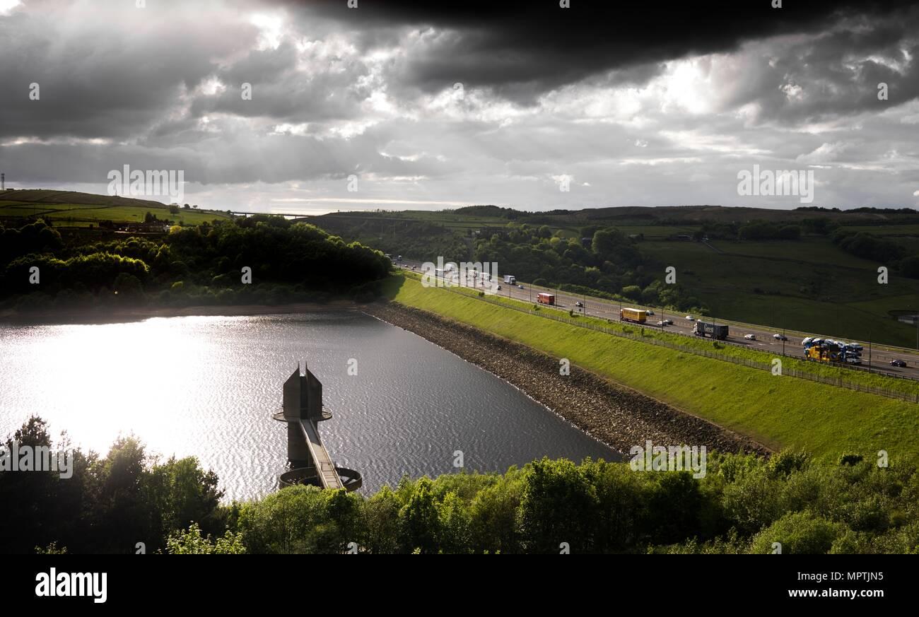 Scammonden Resevoir, West Yorkshire, 2011. Artist: James O Davies. - Stock Image