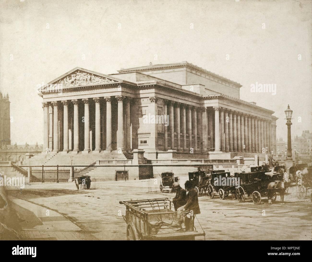 St George's Hall, St George's Plateau, Liverpool, 1854-1855. Artist: Thomas Sutton. - Stock Image