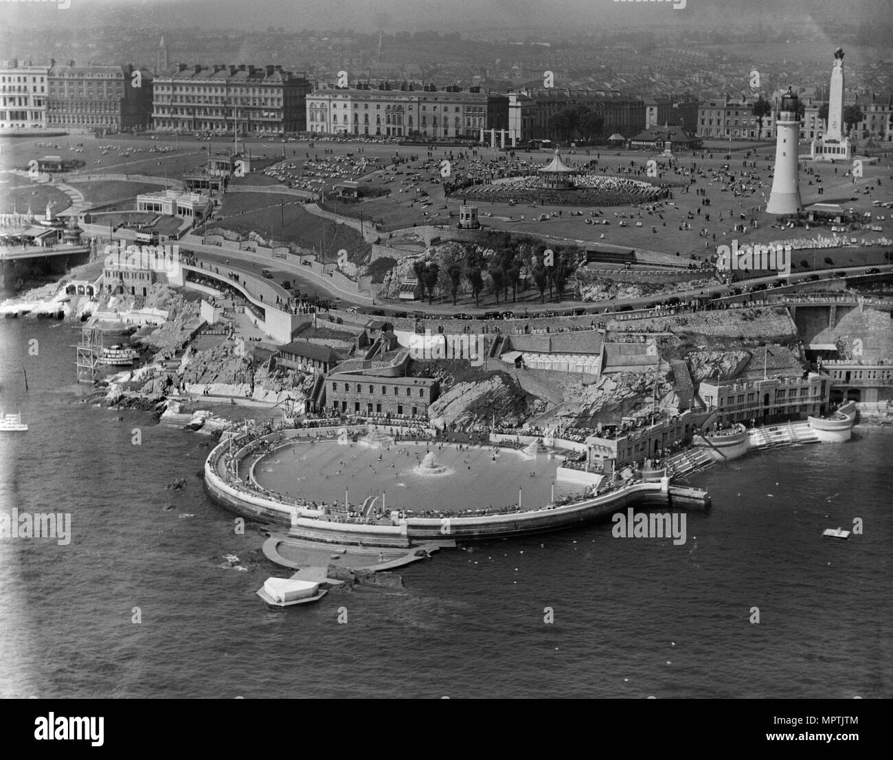 Plymouth Hoe, Devon, 1937. Artist: Aeropictorial Ltd. - Stock Image