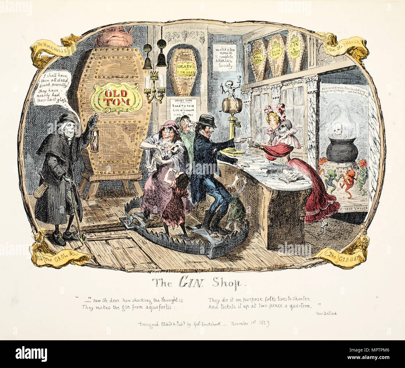 The Gin Shop, 1829.