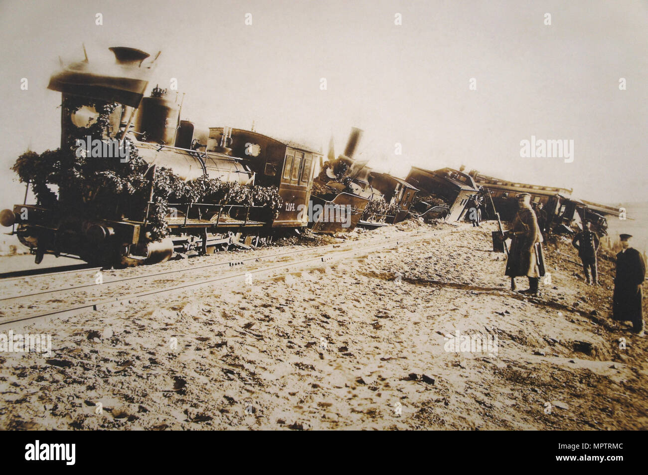 The Borki train disaster on October 29, 1888. - Stock Image