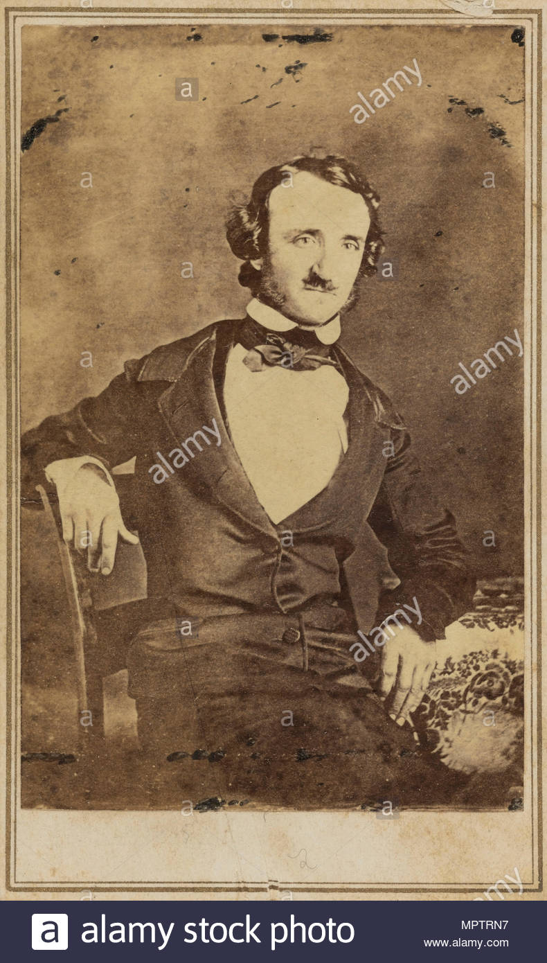 Portrait of Edgar Allan Poe (1809-1849). - Stock Image
