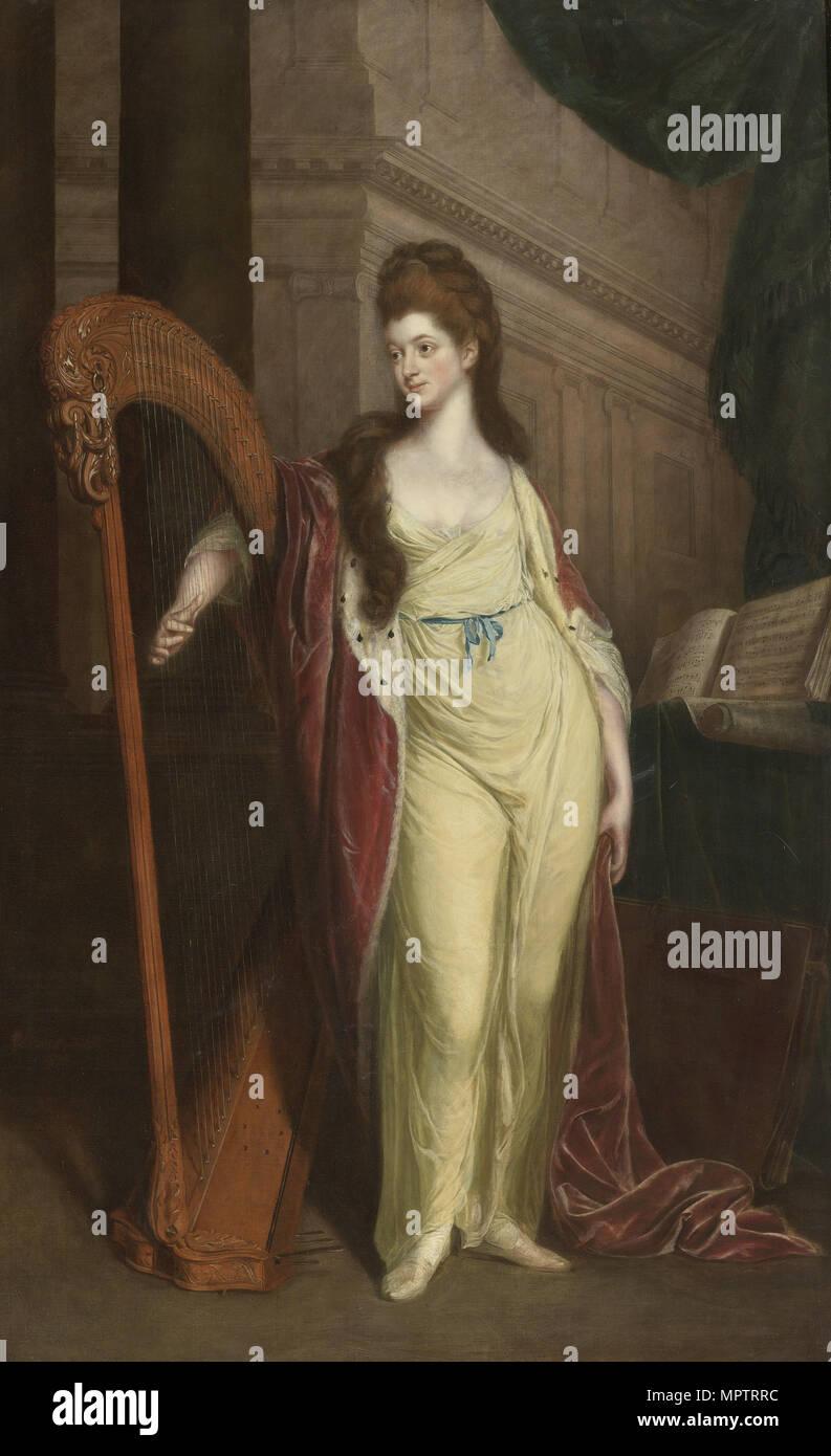 Portrait of Elizabeth, Baroness Craven (1750-1828), Later Margravine of Brandenburg-Ansbach. - Stock Image
