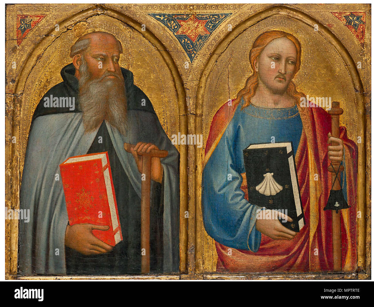 The Saints Anthony and James the Great. - Stock Image