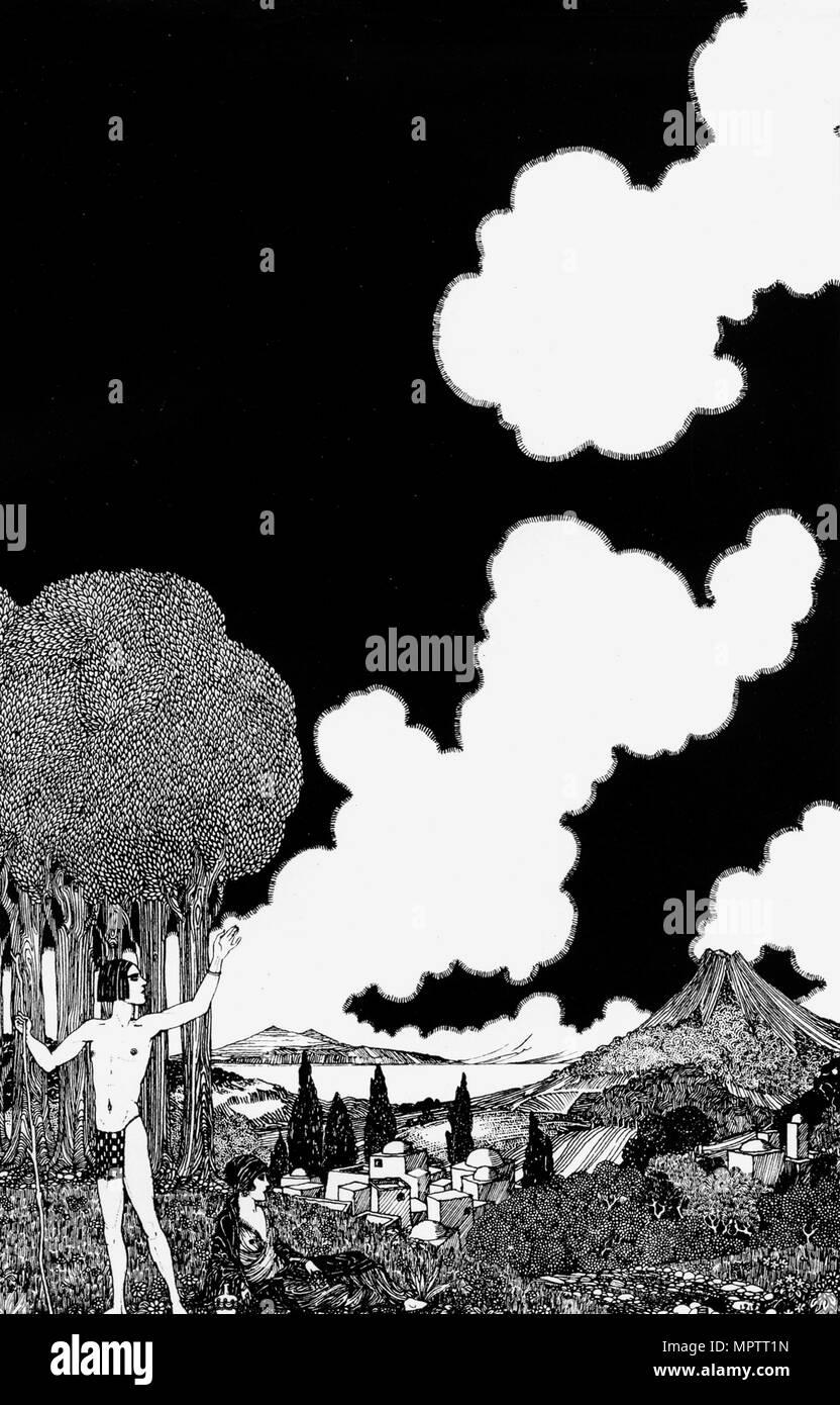 Illustration for The Rubaiyat of Omar Khayyam. - Stock Image