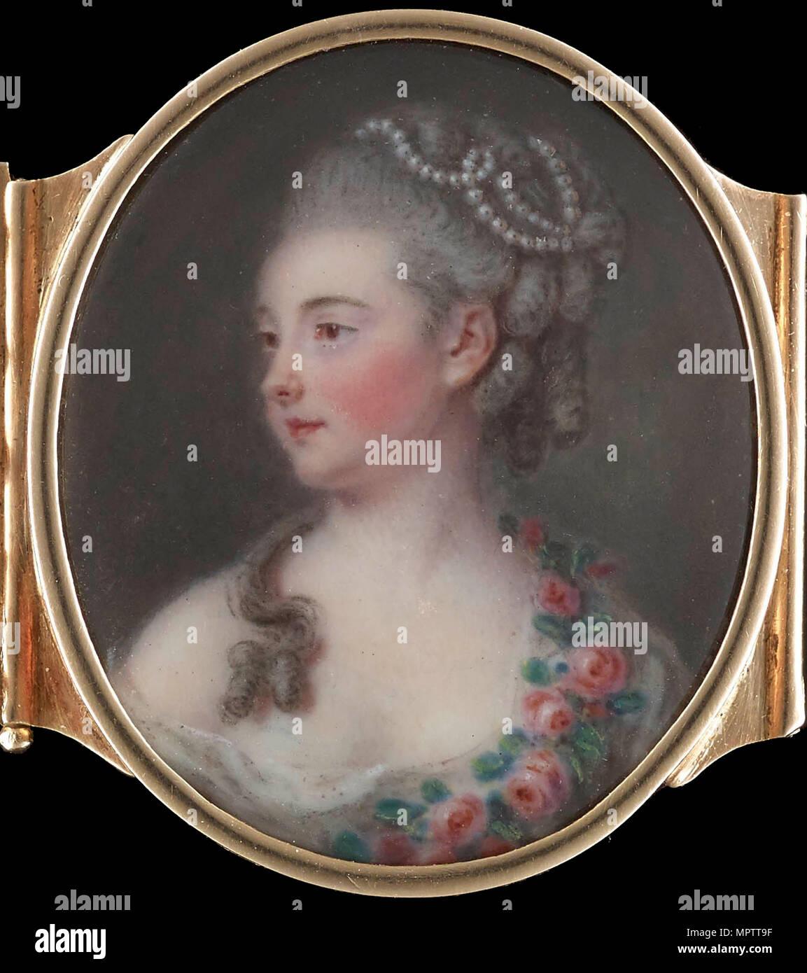 Portrait of Michelle de Bonneuil, née Sentuary (1748-1829). - Stock Image