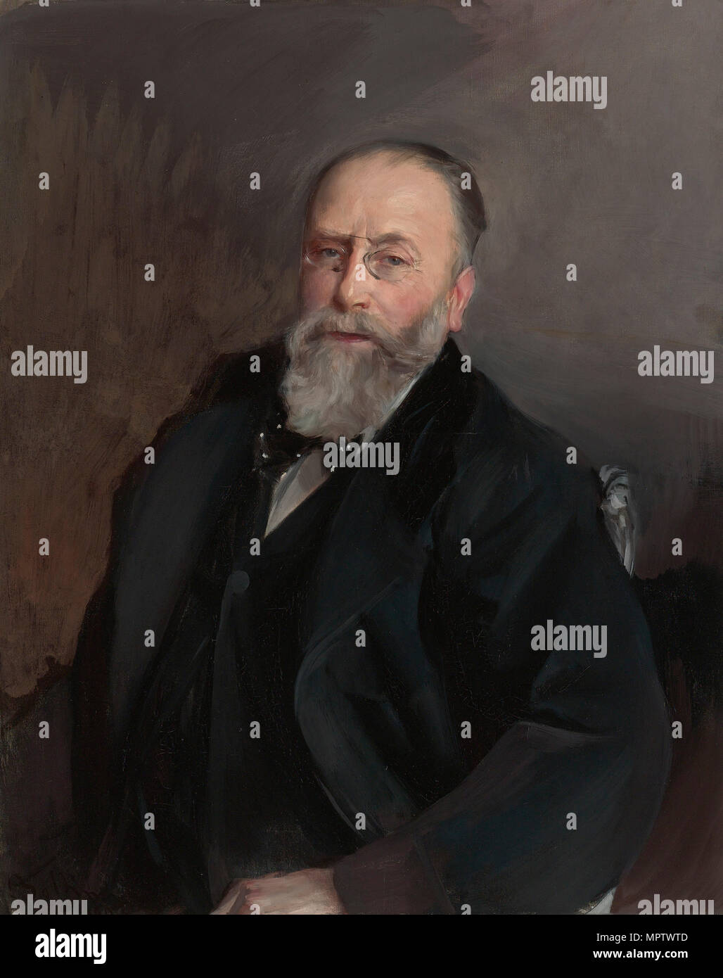 Portrait of Baron de Rothschild. - Stock Image