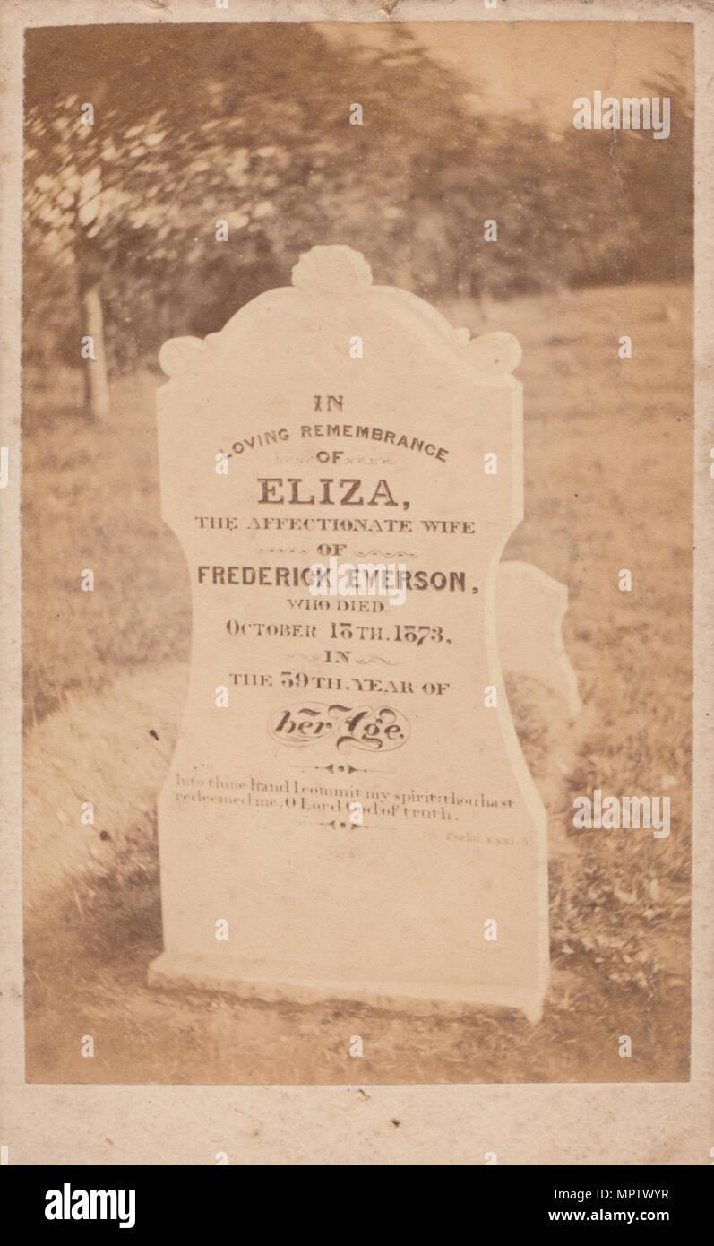 CDV Carte De Visite Of The Victorian Grave Frederick Everson And Eliza